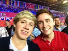 Niall at the Olympics today :P