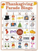 thanksgiving parade bingo = a hit