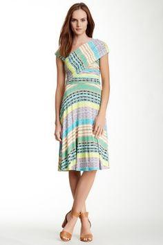 Hazel Printed Asymmetrical Dress