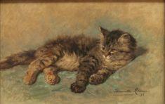 Katje, 1896 by Henriëtte Ronner-Knip (Dutch 1821 - 1909)