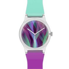 Watch Digital Art Abstract #Watch #Digital #Art #Abstract #medusa81 #purple #turquoise http://www.zazzle.com/watch_digital_art_abstract-256174339458255150