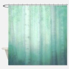 Teal Forest Shower Curtain for