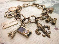 Vintage Paris a charm bracelet by ...