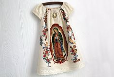 Items similar to Mexican Our lady of Guadalupe baby dress in Black or Cream sizes Newborn to size 8 girls on Etsy My Little Girl, My Baby Girl, Mexican Babies, Mexican Girls, Toddler Fashion, Kids Fashion, Mexican Dresses, Mexican Outfit, Toddler Hair