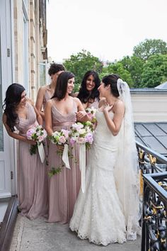 the color of the bridesmaid dresses