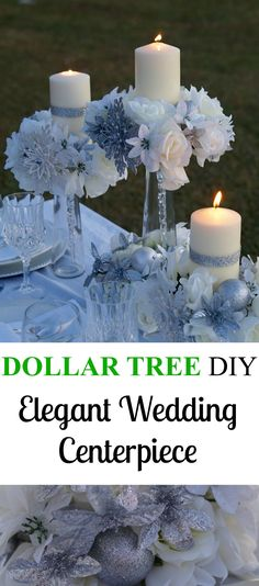 Elegant Dollar Tree Wedding Centerpiece!