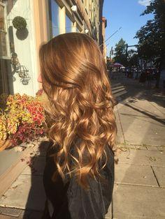 Carmel sun kissed hair