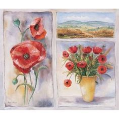Posterazzi Red trio Canvas Art - Rian Withaar (24 x 24)