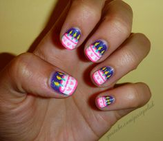 "Here we are with these awesome and amazing looking ""Birthday Nail Art Designs"", as we all know that this birthday event is a special event and each one of us. Crazy Nail Art, Crazy Nails, Cute Nail Art, Cute Nails, Pretty Nails, Gorgeous Nails, Diy Nails, Birthday Nail Art, Birthday Nail Designs"