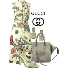 GUCCI by arjanadesign on Polyvore featuring Gucci, Pierre Dumas, CÉLINE and Louise et Cie