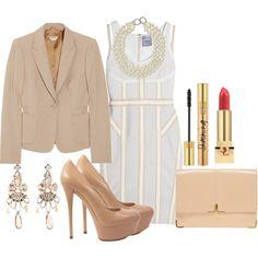 Herve Leger dress, Miu Miu blazer, Asos portfolio clutch