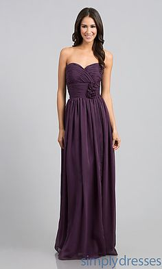 Classic Long Strapless Gown at SimplyDresses.com