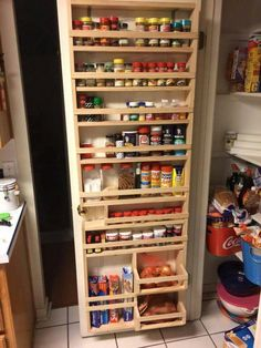 Spice Rack Nj Adorable Pantry Door Spice Rack  Pinterest  Door Spice Rack Pantry And Doors 2018