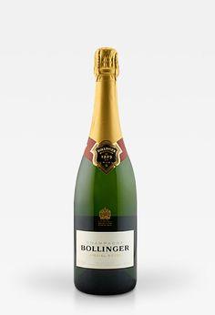 Champagne Bollinger Brut 'Special Cuvée' , Es ist James Bonds Liebling! Aber 007 hin oder her: Dieser Champus ist mit 94 Punkten der zur Zeit beste Non Vintage Champagner auf dem Markt!