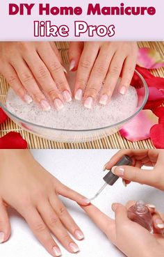 DIY Manicure At-Home Like A Pro - Our fingers and hands regularly get in touch with various chemicals, while scrubbing the floor to washing the dishes. We get so indulged in household activities that we forget to pamper our hands. Let's spend some time for your own care. If you can't pay for a manicure at the salon, do it yourself at home. DIY manicure at home is relaxing and time saving.