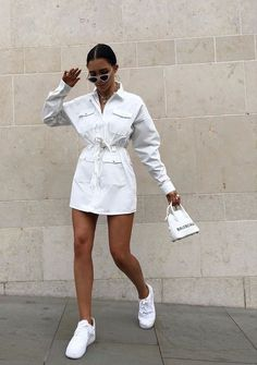 197 charming sporty outfit ideas with a dress for women page 5 Sporty Outfits Charming Dress ideas outfit Page Sporty women Sporty Outfits, Mode Outfits, Classy Outfits, Stylish Outfits, Fashion Outfits, Womens Fashion, Woman Outfits, Fashion Clothes, Fashion Ideas
