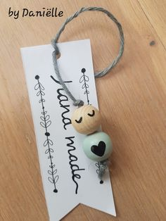 """🌟Tante S! Fr @ loves this📌🌟Pendant """"Wooden Pearl Hearts Lady"""" 🎀 (ohne . Bead Crafts, Diy And Crafts, Crafts For Kids, Diy Keychain, Beaded Garland, Bijoux Diy, Wooden Dolls, Craft Sale, Wooden Diy"""