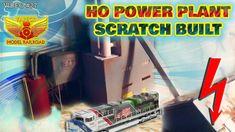 HO Power & Light Plant scratch built: tubes (from the kitchen aluminium foil - kitchen foil rolls), 2 sheets 1 mm styrene, drinking straw and barbecue stick. Kitchen Foil, Aluminium Foil, Barbecue, Drinking, Rolls, Layout, Make It Yourself, Building, Plants