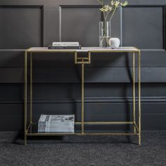 Gatsby Marble Top Console Table: Depth only 36cm might fit in dining room?