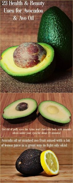 Avocados are a powerhouse of a fruit for so many reasons besides tasting great as guacamole! Check out 23 health & beauty uses for avocado and avo oil!  http://www.prettyopinionated.com/2016/04/health-beauty-uses-avocados-avocado-oil/
