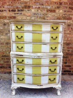 commode raye rayures addiction viemode furniture vintage