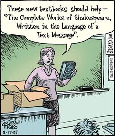 Bizarro done this work as much professional as you think. Here we share 35 Teacher Comics That Expressing The Teacher Life's collected from Bizarro. Teacher Web, Teacher Comics, Teacher Stuff, Complete Works Of Shakespeare, Grammar Jokes, Funny Quotes, Funny Memes, Funny Teacher Quotes, Teacher Funnies