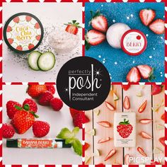 Who loves strawberry as much as I do? Perfectly Posh introduced a new Chunk, a bath scrub, lip scrubs and a lip balm. Which one are you getting?