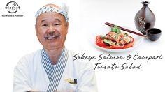 Windset Farms: Sockeye Salmon & Campari Tomato Salad with Chef Tojo. Sockeye Salmon, Tomato Salad, What To Cook, Farms, Food Videos, Dishes, Cooking, Recipes, Haciendas
