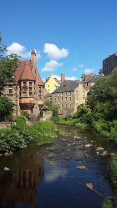 Dean Village in Edinburgh, Scotland © Enriching My Soul
