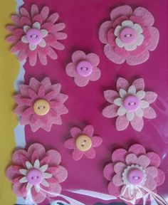 crafts made with felt | Homemade- Mothers- Day- Ideas - Spring -felt -craft -flower -_70