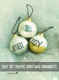 Easy DIY Graphic Christmas Ornaments #plaidcrafts