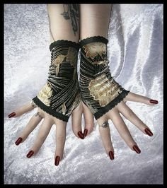 The Sanity Assassin Elegant Velvet Fingerless by ZenAndCoffee, $26.00