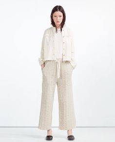Image 1 of MID-LENGTH TROUSERS from Zara