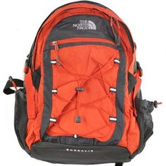 The North Face orange backpack