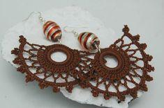 Crochet earrings  Large crochet earrings  Crochet by lindapaula, €11.00 Pendientes de ganchillo, aretes, zarcillos.