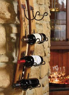Handcrafted from authentic French oak wine barrels...