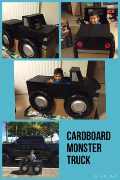 Pappmonster truck Source by kkailani Monster Truck Costume, Monster Trucks, Monster Truck Birthday, Monster Jam, 2nd Birthday Parties, Baby Birthday, Birthday Ideas, Transportation Party, Construction Party