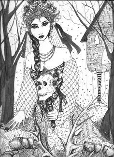 Vassilissa la très belle (Encre noire) par Elo May