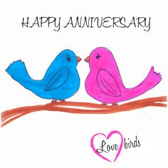 Send tweets of love to a happy couple on their #anniversary with this chirpy… Anniversary Wishes For Friends, Happy Wedding Anniversary Wishes, Wedding Anniversary Quotes, Anniversary Congratulations, Happy Birthday Wishes Cards, Anniversary Greetings, Happy Birthday Images, Birthday Greetings, 7th Anniversary