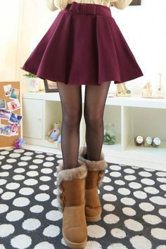 Cute winter/fall outfit. A-line skirt