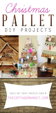 Christmas Pallet DIY Projects - The Cottage Market #ChristmasPalletDIYProjects, #ChristmasPalletCrafts, #PalletDIYProjects