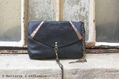 Idée cadeau #Pochette #Enveloppe #Matieresareflexion #Sacs #Femme #Accessoires #Cuir #Vintage