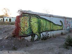 dino urban art