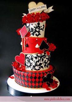 Wedding option #3 - Casino theme | Cake idea
