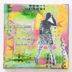 Until You Spread Your Wings Mixed-Media Canvas Project