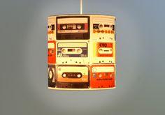 Lampe mit Kassetten // Casserre lamp by Halbeins via DaWanda.com