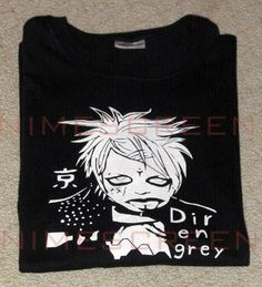 Dir en Grey Jpop Jrock Gothic Black Shirt w/Crazy Kyo Shirt T-shirt tee Tshirt