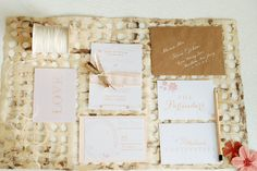 Ashley + Joshua's  #wedding #suite #invitations by #umama
