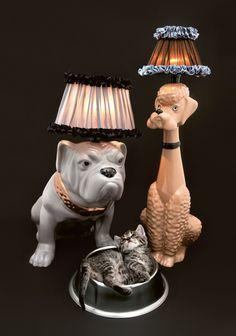 Treue Begleiter: Pudel Lampe (ausverkauft) um € 295,- und Bulldog Lampe um € 385,- im #MQ Point.