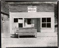 Walker Evans, Church of the Nazarene, Tennessee, 1936.